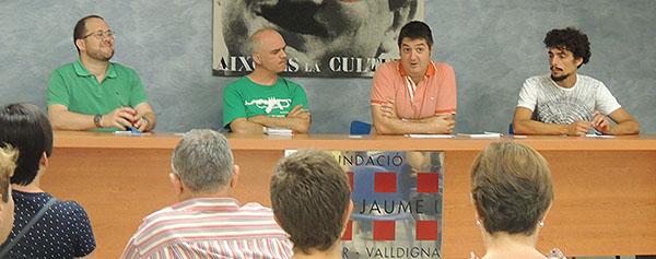 La taula estava formada pel mateix Josep Antoni Alberola (Llevant Ensemble), Ferran Escrivà (Capella Ducal), Francesc Burgos (La Casa Calba) i Joan Salvador Mont (compositor i intèrpret).